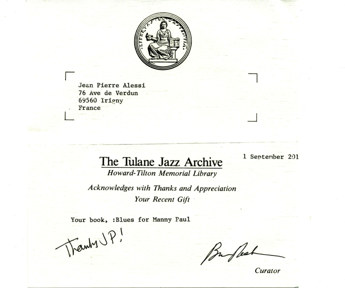 tulane jazz archives
